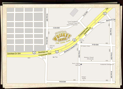 Whiskey Creek Map